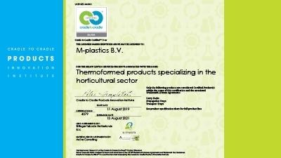 M-plastics vernieuwt zijn Cradle to Cradle certificatie! - M-plastics
