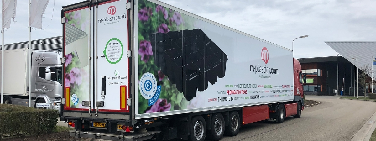 Latest labelling for M-plastics lorries - M-plastics