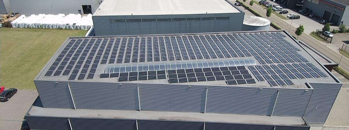 Solar panels installed at M-plastics - M-plastics